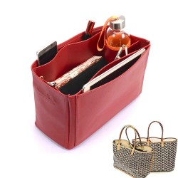 Saint Louis Pm and Anjou Pm Deluxe Leather Handbag Organizer in Cherry Red Color