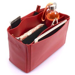 Saint Louis PM and Anjou PM Vegan Leather Handbag Organizer in Cherry Red Color