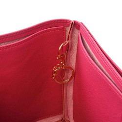 Neverfull GM Deluxe Leather Handbag Organizer in Fuchsia Color