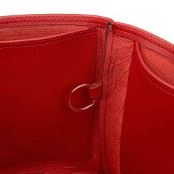 Chanel Deauville Deluxe Leather Handbag Organizer in Cherry Red Color