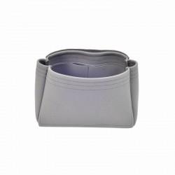Longchamp Le Pliage Suedette Basic Style Leather Handbag Organizer (Dark Gray) (More Colors Available)