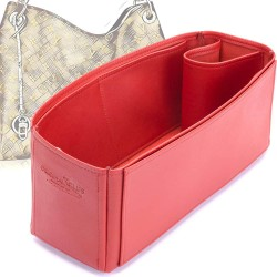 Artsy MM Deluxe Leather Handbag Organizer in Cherry Red Color