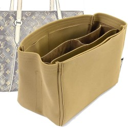 Totally MM / GM Compartment Style Nubuck Leather Handbag Organizer (More colors available)