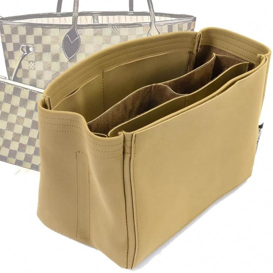 Neverfull MM Compartment Style Nubuck Leather Handbag Organizer (More colors available)