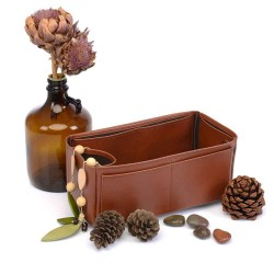 Hina MM Deluxe Leather Handbag Organizer in Brown Color