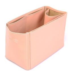 Hina MM Deluxe Leather Handbag Organizer in Blush Pink Color