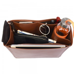 Speedy 35 Vegan Leather Handbag Organizer in Brown Color