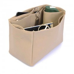Noe Vegan Handbag Organizer in Dark Beige Color