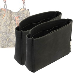 Set of 2 Neo Noe Basic Style Nubuck Leather Handbag Organizers (More colors available)