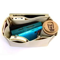 Neverfull MM Deluxe Leather Handbag Organizer in Ecru Color