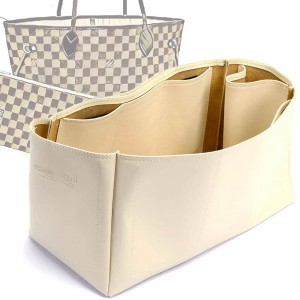 Neverfull GM Vegan Leather Handbag Organizer in Ecru Color