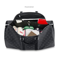Keepall 55 Vegan Leather Handbag Organizer in Black Color