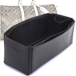Keepall 45 Deluxe Leather Handbag Organizer in Black Color
