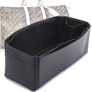 Keepall 45 Vegan Leather Handbag Organizer in Black Color
