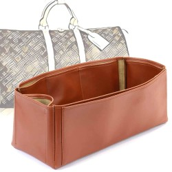 Keepall 45 Deluxe Leather Handbag Organizer in Brown Color