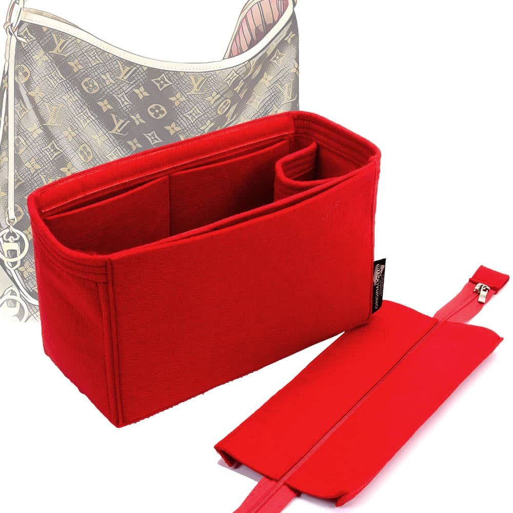 Handbag Organizer with Detachable Zipper Top Style for Delightful MM (New), MM (Old) and GM (More colors available)