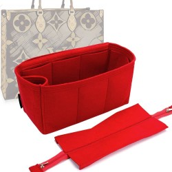Handbag Organizer with Detachable Zipper Top Style for OntheGo MM and GM (More colors available)