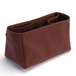 Iena MM Deluxe Leather Conical Handbag Organizer in Maroon Color