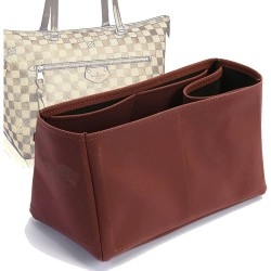Iena MM Vegan Leather Conical Handbag Organizer in Maroon Color