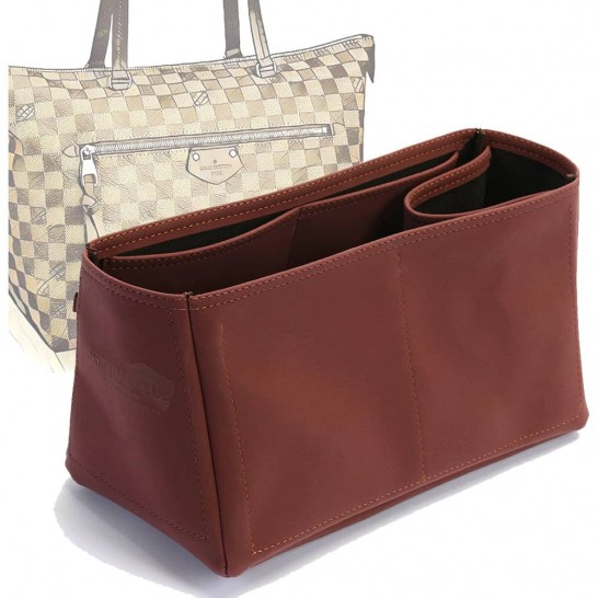 Iena MM Deluxe Leather Conical Handbag Organizer in Maroon Color