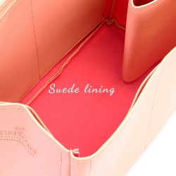 Neverfull GM Vegan Leather Handbag Organizer in Blush Pink Color