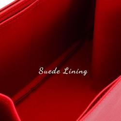 Graceful PM Vegan Leather Handbag Organizer in Cherry Red Color