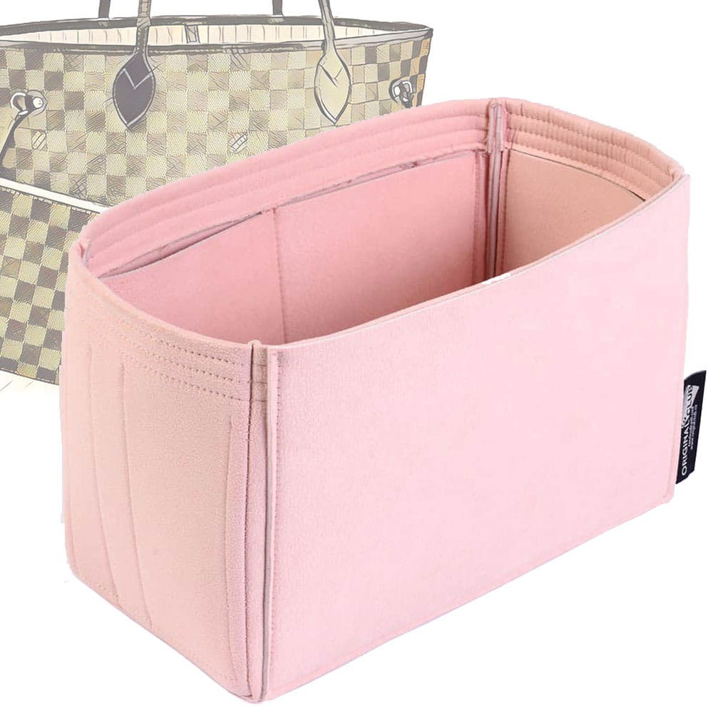 Microsuede Bag Organizer For Neverfull In Blush Pink – Limited Edition