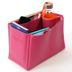 Jersey Deluxe Leather Bag Organizer in Fuschia Color