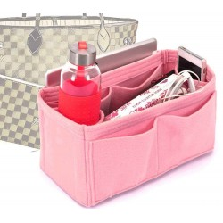 Bag and Purse Organizer with Singular Style for Louis Vuitton Neverfull MM in Blush Color