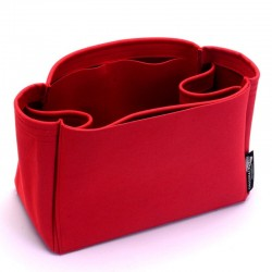 OntheGo Suedette Regular Style Leather Handbag Organizer (Red) (More Colors Available)