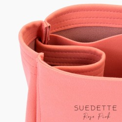Graceful PM / MM Suedette Regular Style Leather Handbag Organizer (Rose Pink) (More Colors Available)