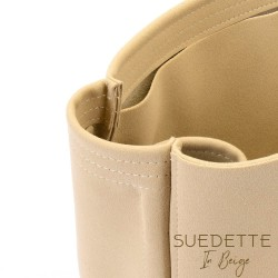 Speedy 25 / 30 / 35 / 40 Suedette Regular Style Leather Handbag Organizer (Beige) (More Colors Available)