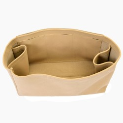 Neverfull PM / MM / GM  Suedette Regular Style Leather Handbag Organizer (Beige) (More Colors Available)