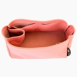 Iena MM Suedette Singular Style Leather Handbag Organizer (Rose Pink) (More Colors Available)