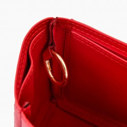 Neverfull PM Vegan Leather Handbag Organizer in Cherry Red Color