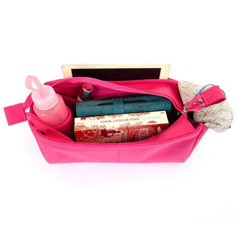 Bag And Purse Organizer With Zipper Top Style For Graceful MM