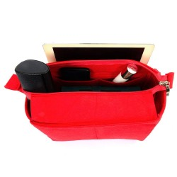 Bag and Purse Organizer with Zipper Top Style for Neverfull Models (More colors available)