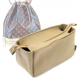 Bag and Purse Organizer with Zipper Top Style for NOE (More colors available)