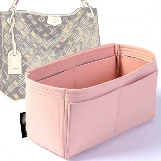 Microsuede Bag Organizer For Graceful In Blush Pink– Limited Edition