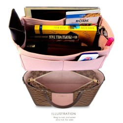 Microsuede Bag Organizer For Jersey In Blush Pink– Limited Edition
