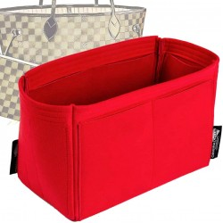 Microsuede Bag Organizer For Neverfull In Cherry Red– Limited Edition