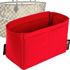 Microsuede Bag Organizer For Neverfull PM / MM / GM in Cherry Red– Limited Edition