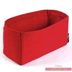 Microsuede Bag Organizer For Speedy In Cherry Red– Limited Edition