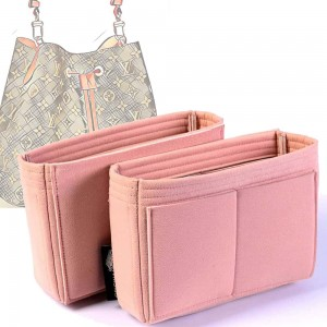 Set of 2 Microsuede Bag Organizers For LV NeoNoe In Blush Pink– Limited Edition