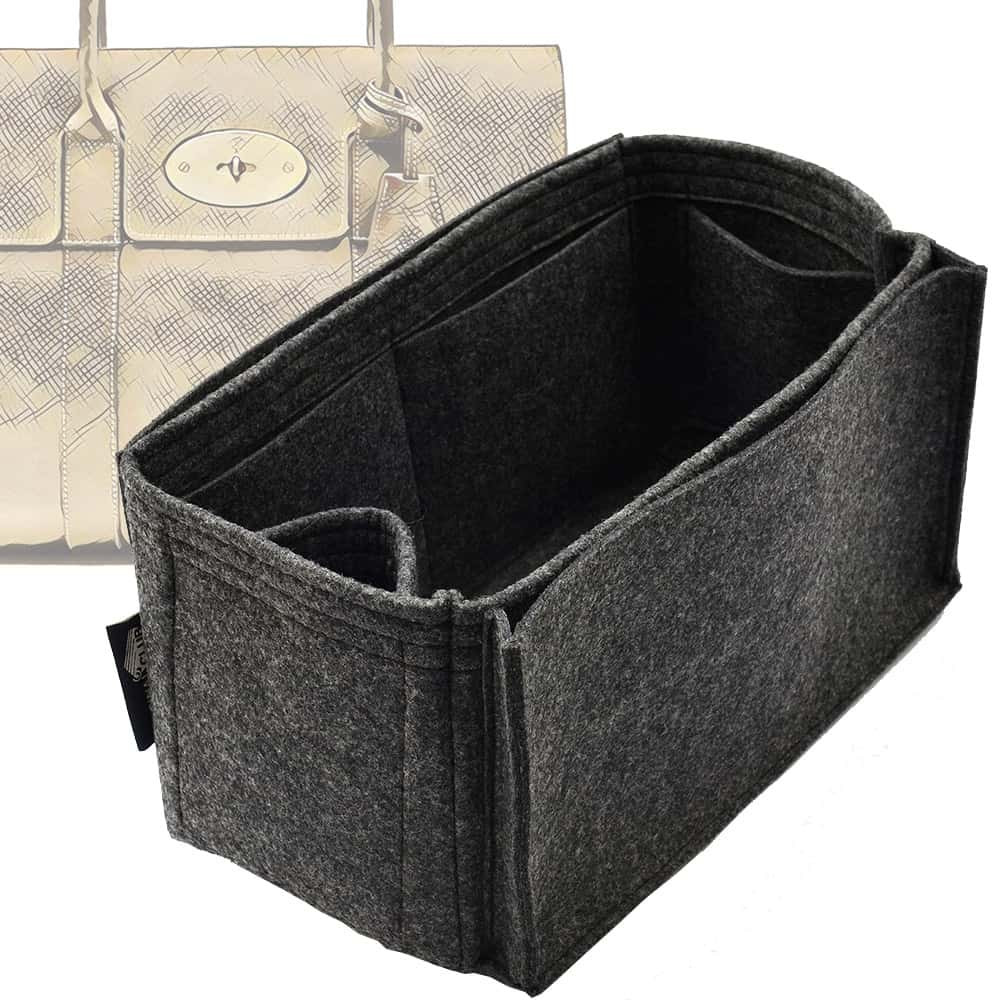 Bag and Purse Organizer with Side Compartment for Mulberry Bayswater