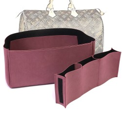 Compartment Style Nubuck Leather Handbag Organizer for Speedy Models