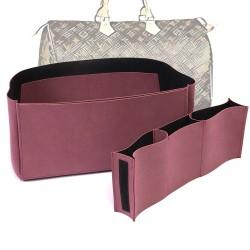 Compartment Style Nubuck Leather Handbag Organizer for Speedy Models