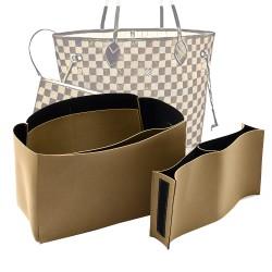 Compartment Style Nubuck Leather Handbag Organizer for Neverfull Models