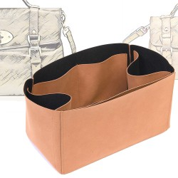 Regular Style Nubuck Leather Handbag Organizer for Alexa Oversized