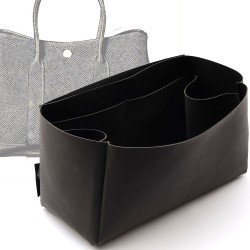 Regular Style Nubuck Leather Handbag Organizer for Garden Party Models